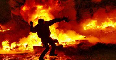 Photo: Manifestations à Kiev, au début de la crise, janvier 2014 (Ввласенко - CC)