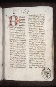 """""""Expositio et quaestiones"""" dans Aristoteles De Anima par Johannes Buridanus, 1362"""