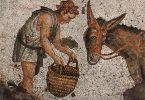 Âne dans une mosaïque byzantine.