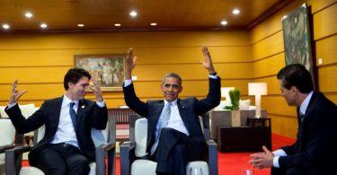 Le premier ministre Justin Trudeau, en compagnie de son homologue Barack Obama, lors du Sommet de l'APEC (no.v 2015) - Photo: Wikimédia - CC.