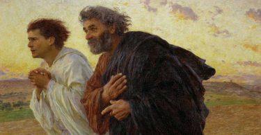 Pierre et Jean courant au tombeau le jour de la Résurrection de Jésus. (Burnand, 1898) - Wikimedia - CC.