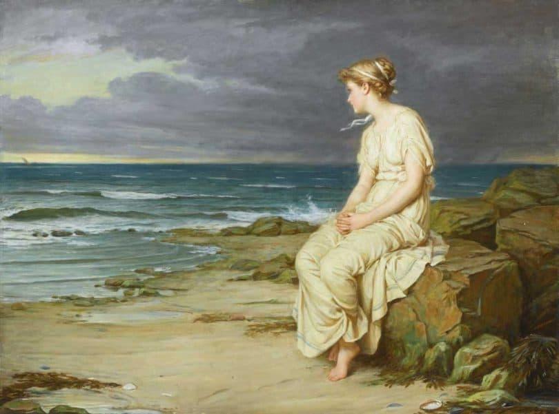 Image: The Tempest (Miranda) - John William Waterhouse, 1916
