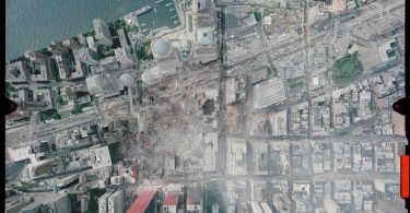 Photographie aérienne du site prise le 23 septembre 2001. National Oceanic and Atmospheric Administration (NOAA).