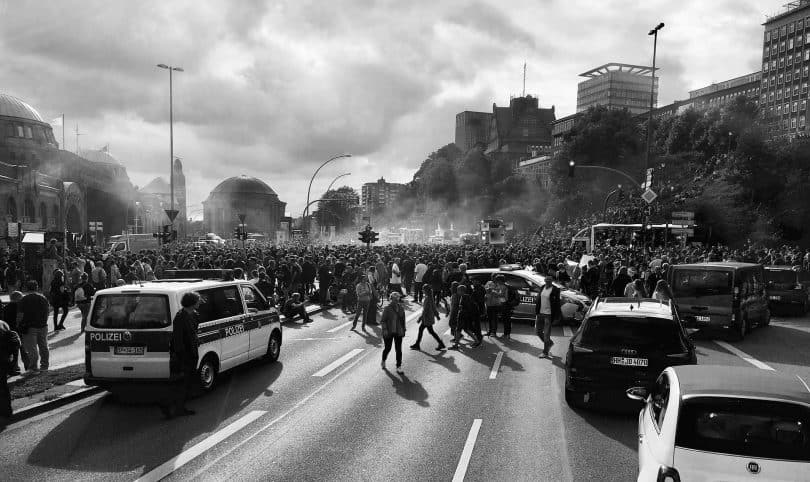 Manifestation en marge du G20, Hambourg. (Pixabay - CC)