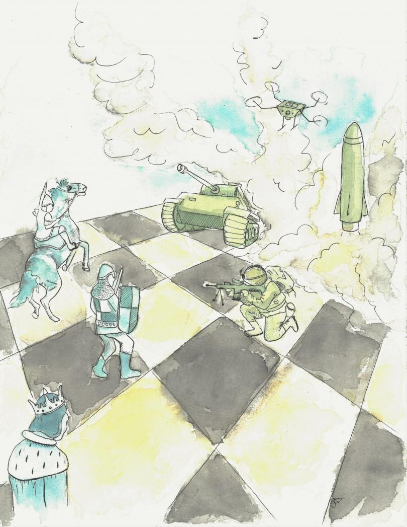 Illustration: Caroline Dostie / Le Verbe.