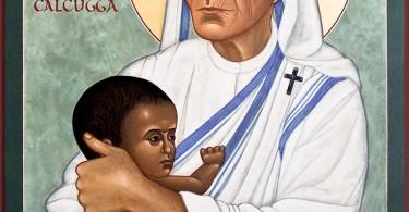 Mère Teresa de Calcutta. Icône écrite par Marysia Kowalchyk.