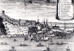 Gravure: ville de Québec, autour de 1700 (auteur inconnu, Wikimedia - CC).