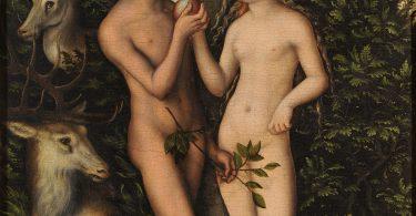 """Lucas Cranach , """"Adam et Ève"""", huile sur toile, 1532 (Wikimedia Commons)."""