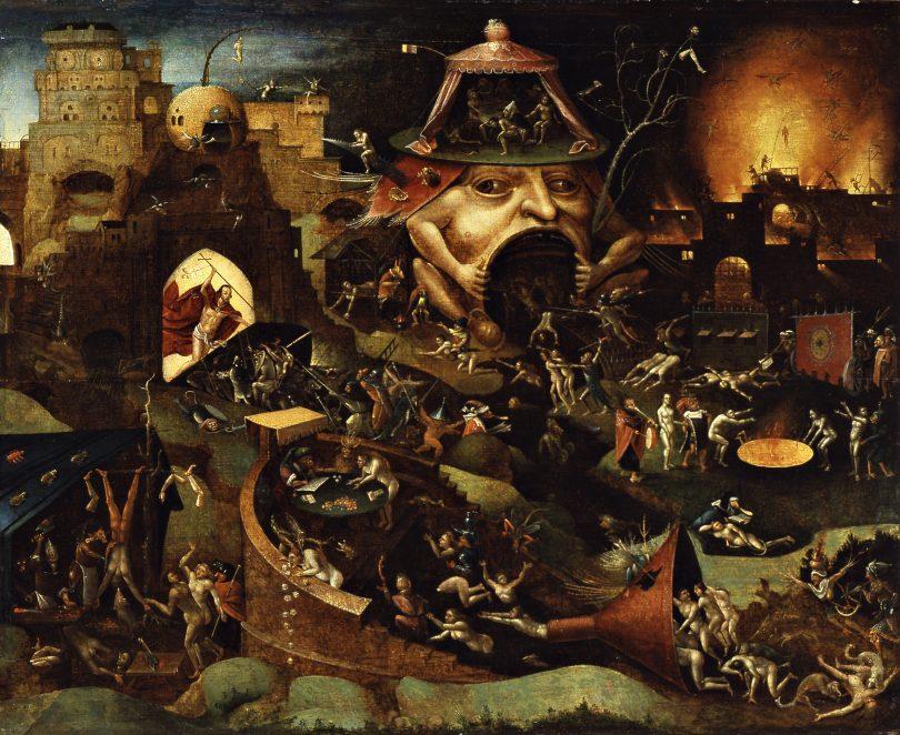 Le Christ dans les limbes, oeuvre d'un disciple de Jérôme Bosch.