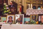 Gilles Kègle a prononcé l'hommage aux défunts lors des funérailles célébrées à l'église Saint-Roch (photo: Raphaël de Champlain).