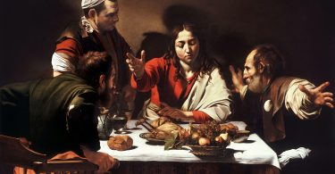 Le Souper à Emmaüs (Le Caravage, National Gallery, Londres).